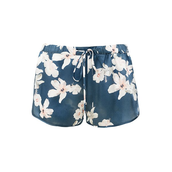 Hibiscus Print Athletic Shorts by Violet and Wren