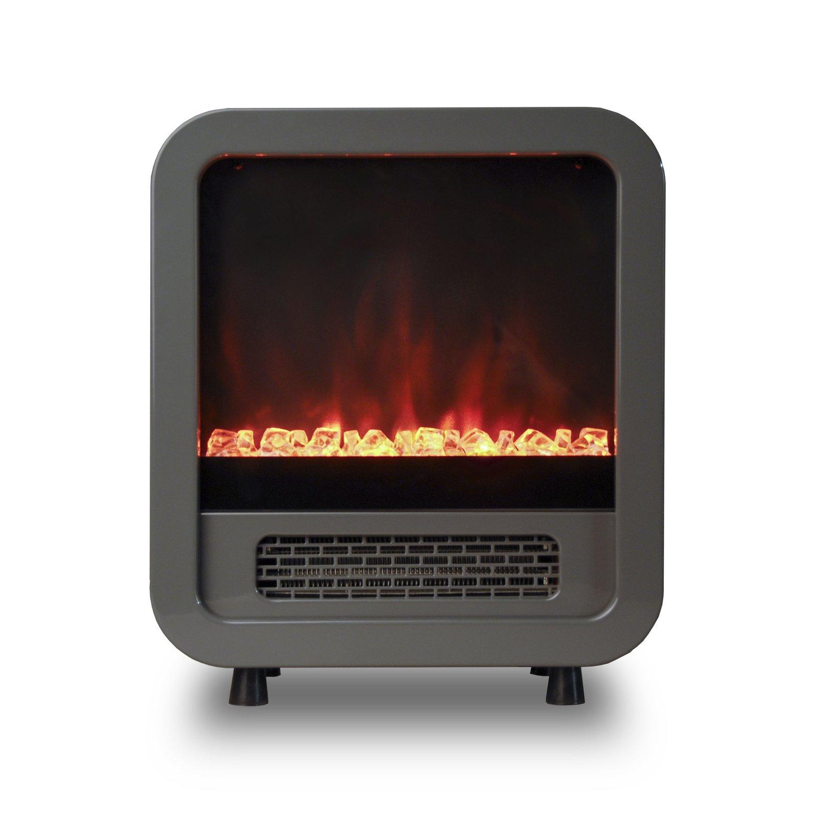 Portable Electric Fireplace Mini Retro Stove