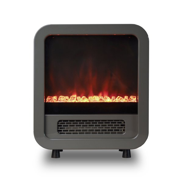 Portable Electric Fireplace Mini Retro Stove
