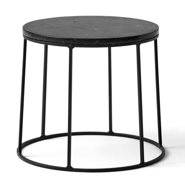 Wire Stand & Marble End Table