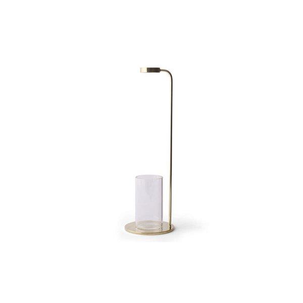 "Menu Brass & Crystal Glass Bud Vase ""Stem"""