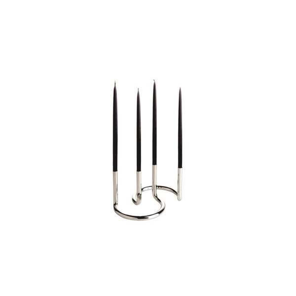 Gemini Stainless Steel Candleholder (Set of 2)