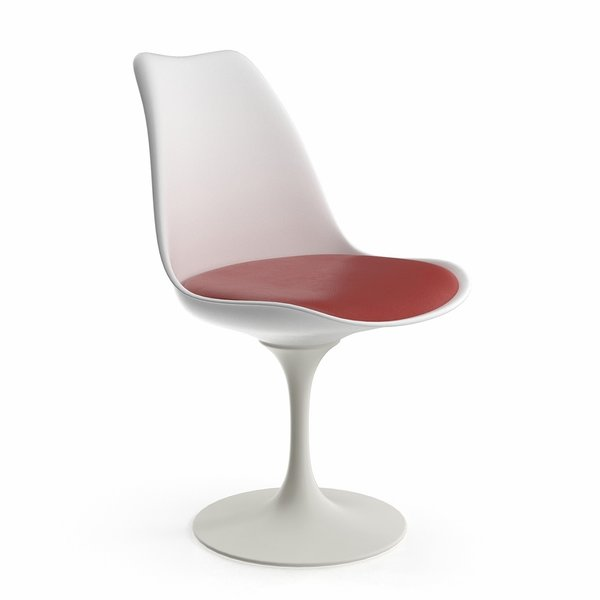 Saarinen Tulip Armless Chair with Seat Cushion
