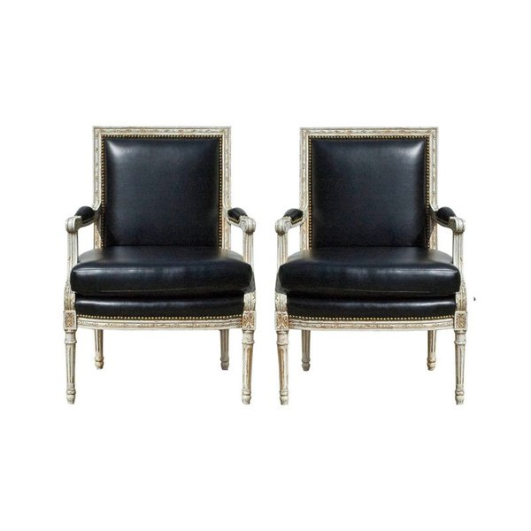 Vintage Louis XVI Bergere Chairs