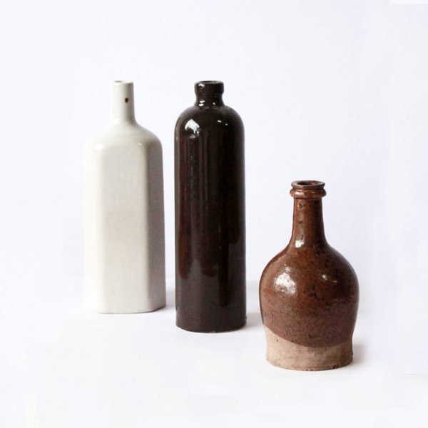 Set of 3 Vintage Beer Bottles