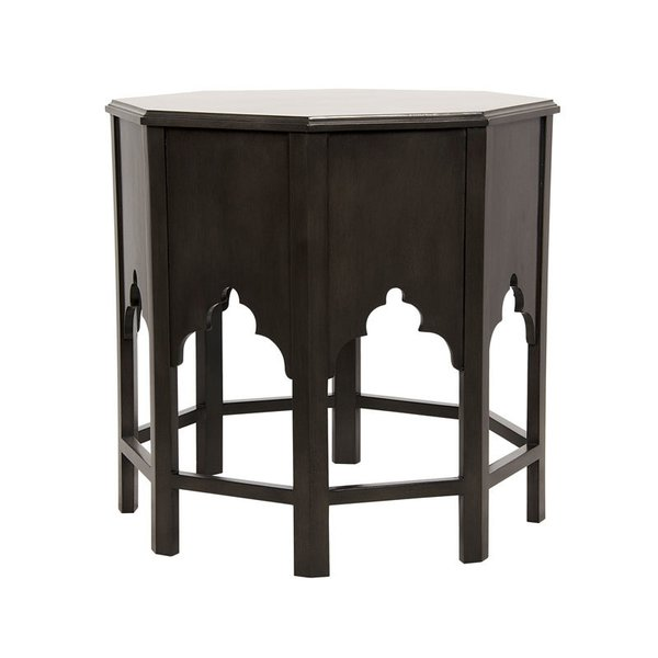 Noir Damascus Side Table