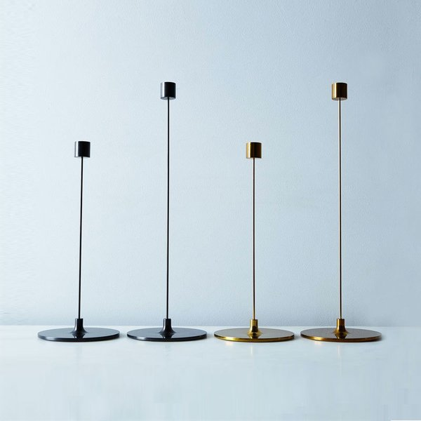 "Brass ""Pin"" Candle Sticks"
