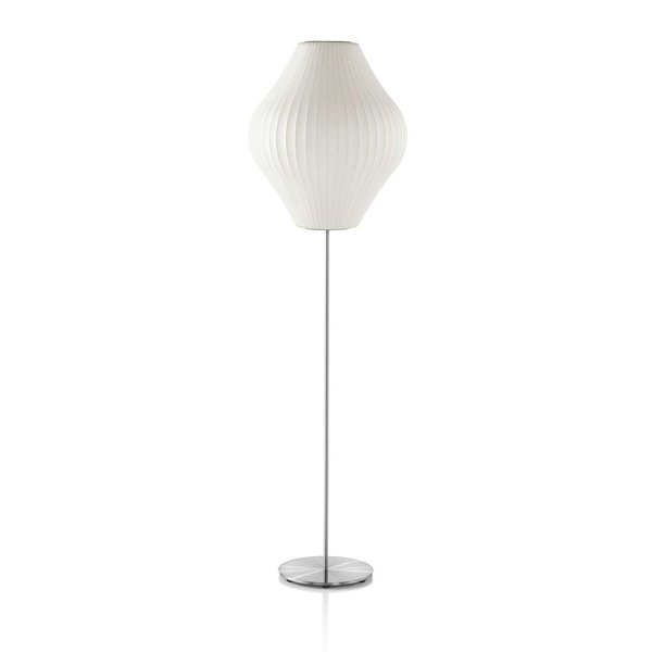 Herman Miller Lotus Bubble Floor Lamp - Pear by George Nelson