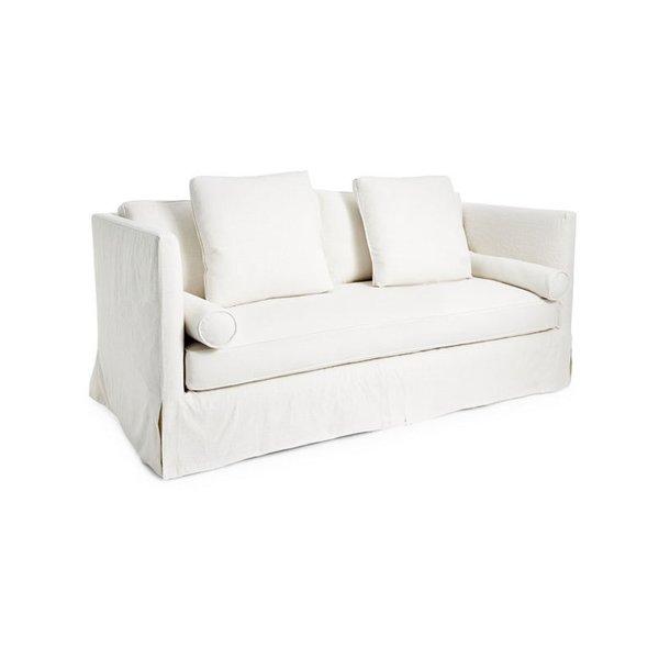Oliver White Linen Slipcover Sofa
