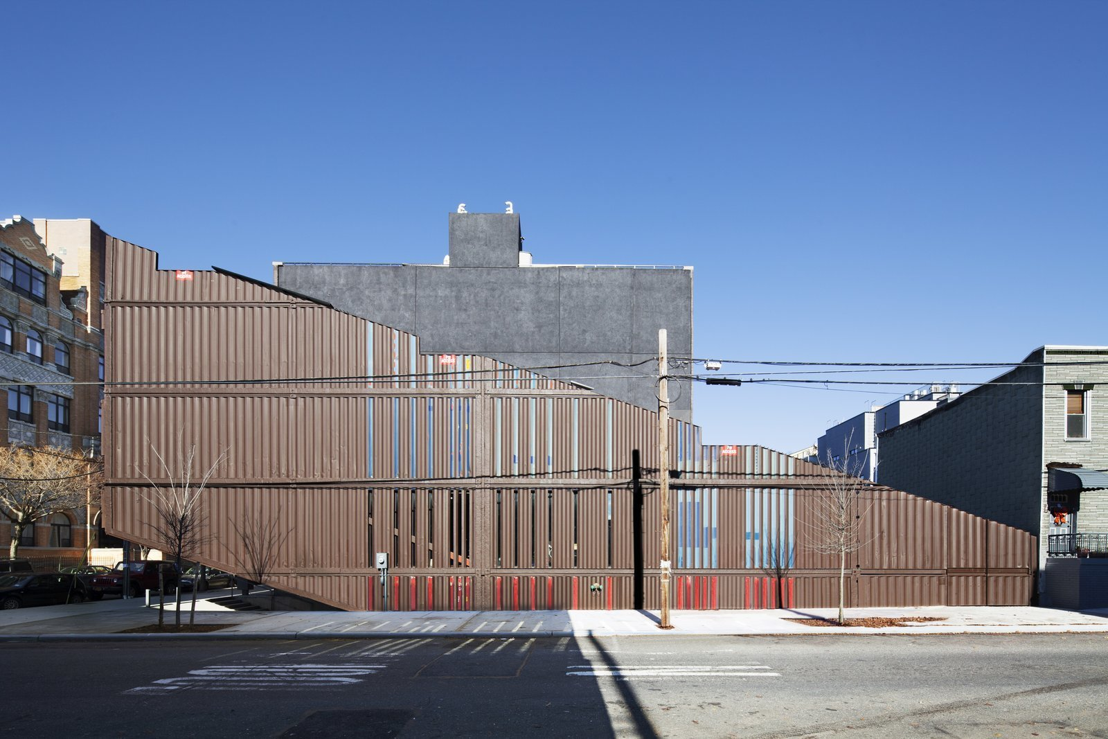 Tagged: Exterior, House, Shipping Container Building Type, and Metal Siding Material.  Photo 1 of 13 in An Amazing Home in Brooklyn Made Out of 21 Shipping Containers