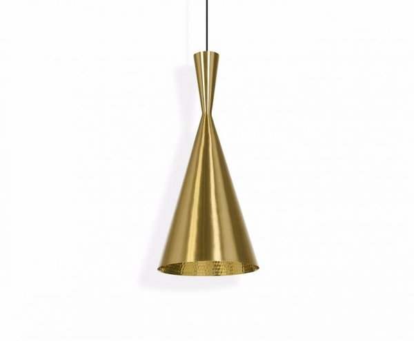 Tom Dixon Beat Light Brass Pendant - Tall