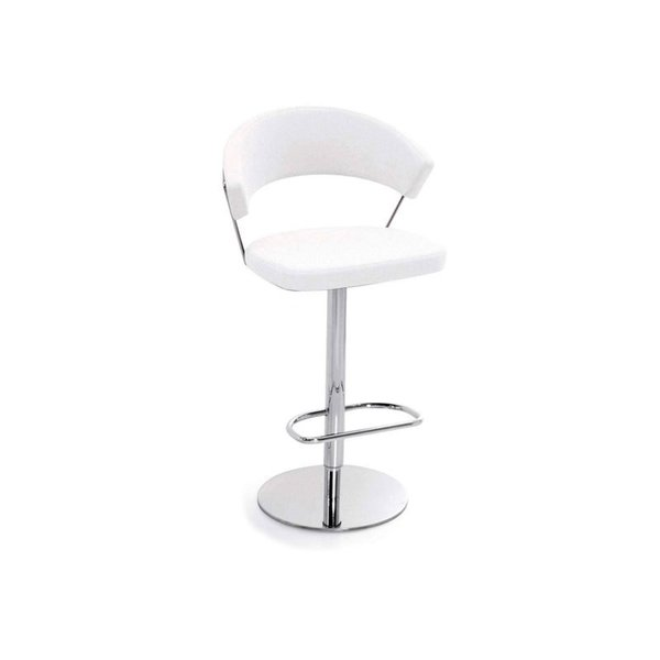 Callifaris New York Leather Swivel Stool