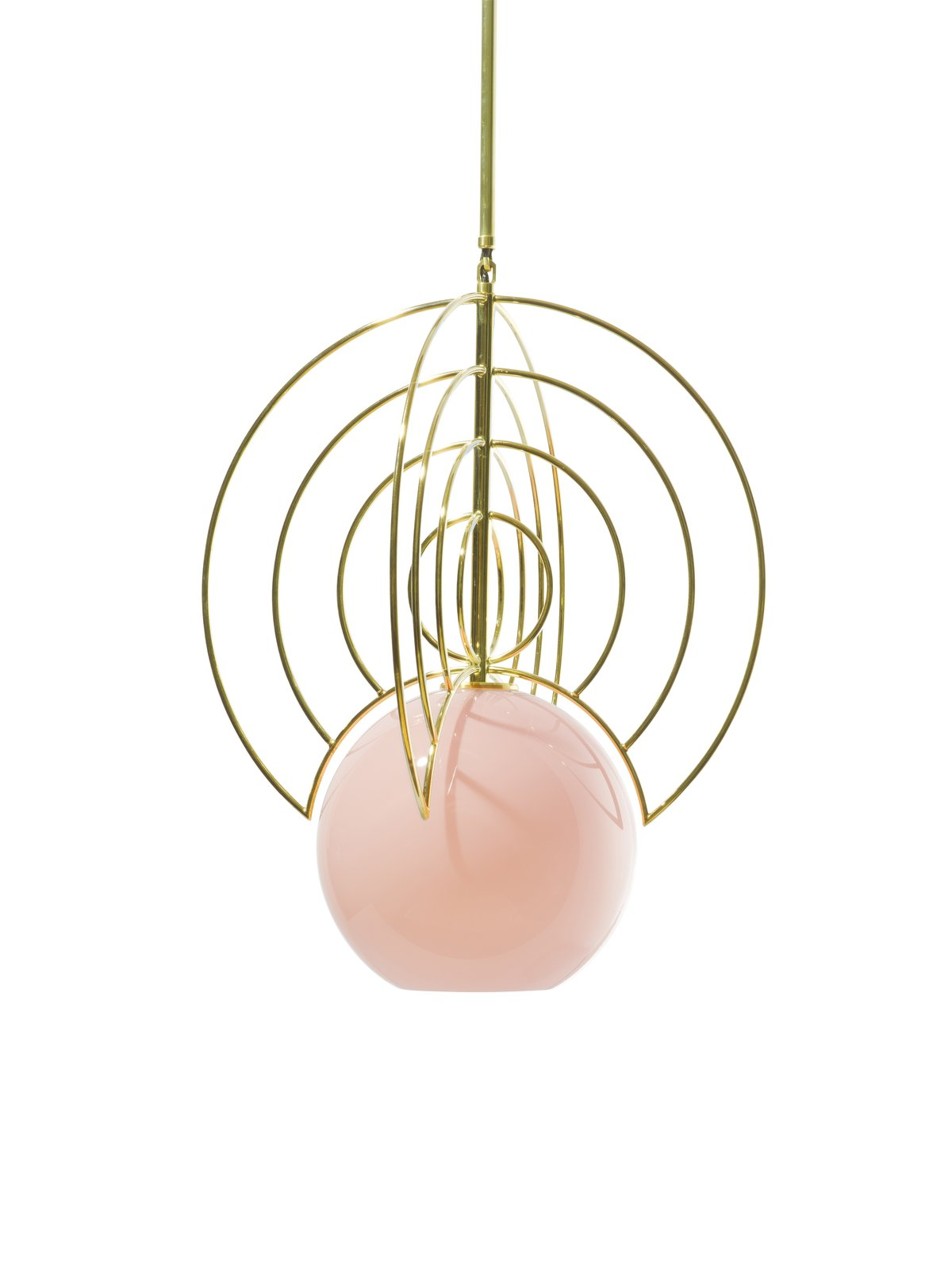 Aeneas light (2017) Iacoli & McAllister To make this recently debuted  pendant, a glass orb is hand-blown by frequent collaborator John Hogan, and the fixture is assembled,  wired, UL-listed, and shipped from the company's Seattle studio.