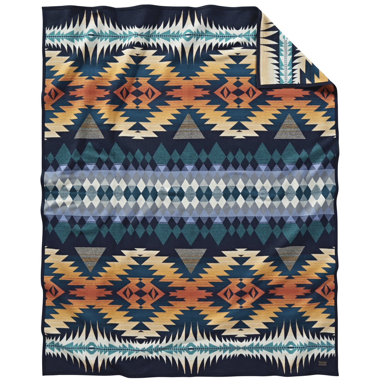 Night Dance Blanket (2017) Pendleton Woolen Mills Woven and finished using jacquard looms in Pendleton, Oregon, the Night Dance blanket is manufactured by adhering to the same trusted practices the company has followed since its founding in 1863.