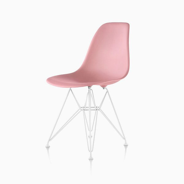 Eames Molded Plastic Side Chairs with Metal Base Options from Herman Miller