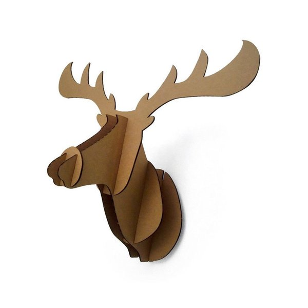 Paper Maker Cardboard Moose Head