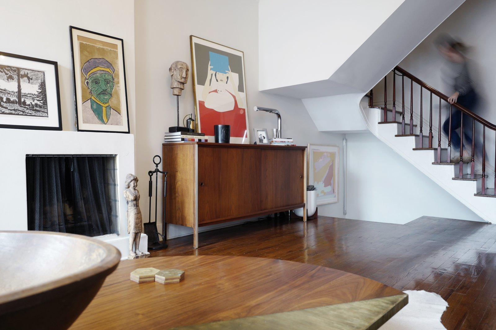 A Design Duo's 19th-Century Brooklyn Townhouse Is Filled With Art They Love