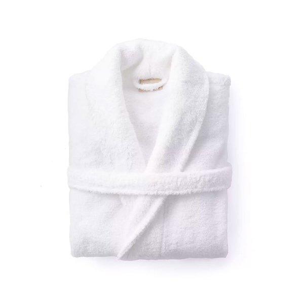 Coyuchi Cloud Loom Robe in Alpine White