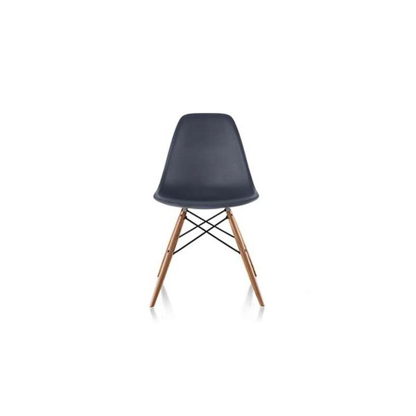 Eames Molded Plastic Side Chair with Dowel-Leg Bases from Herman Miller