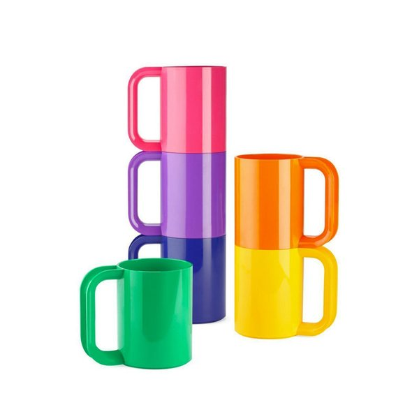 Heller Dinnerware Vignelli Rainbow Mug – Set of 6