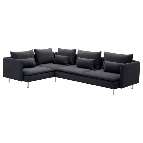 SÖDERHAMN Sectional, Samsta dark gray by IKEA