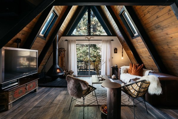 A 1970s A-Frame Cabin in Big Bear Is Brought Back to Life