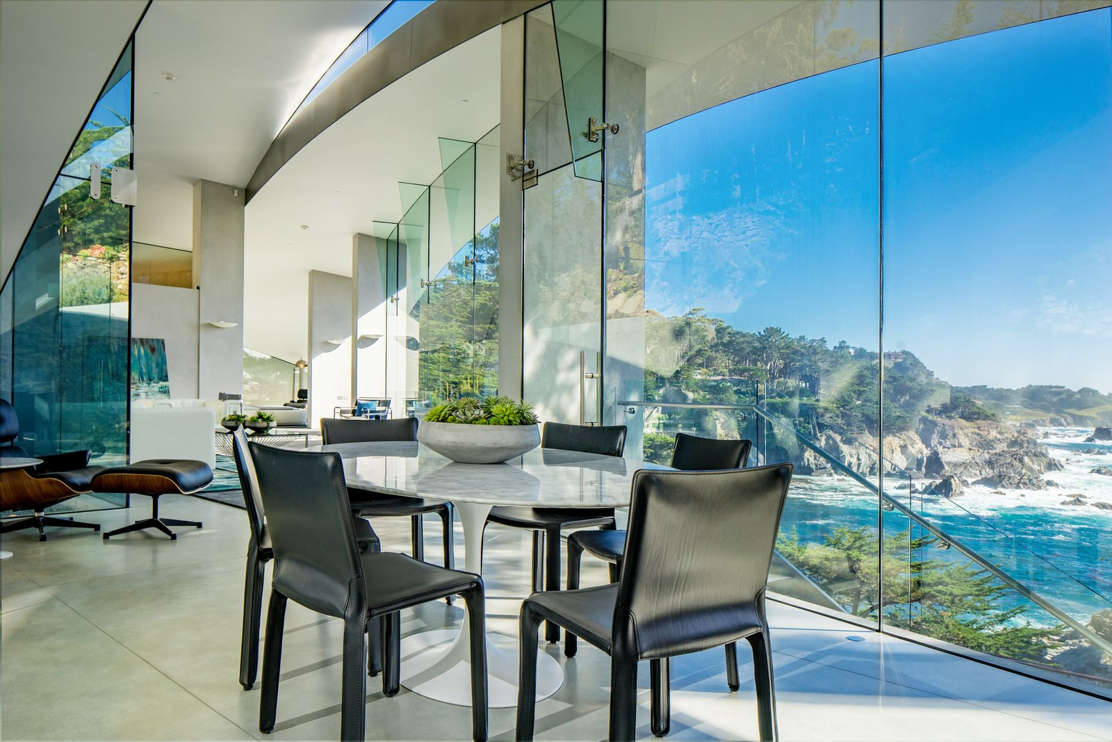 Tagged: Dining Room, Chair, and Table.  Best Photos from We Wish We Had $11.4M to Buy This Oceanfront Wonder in Carmel