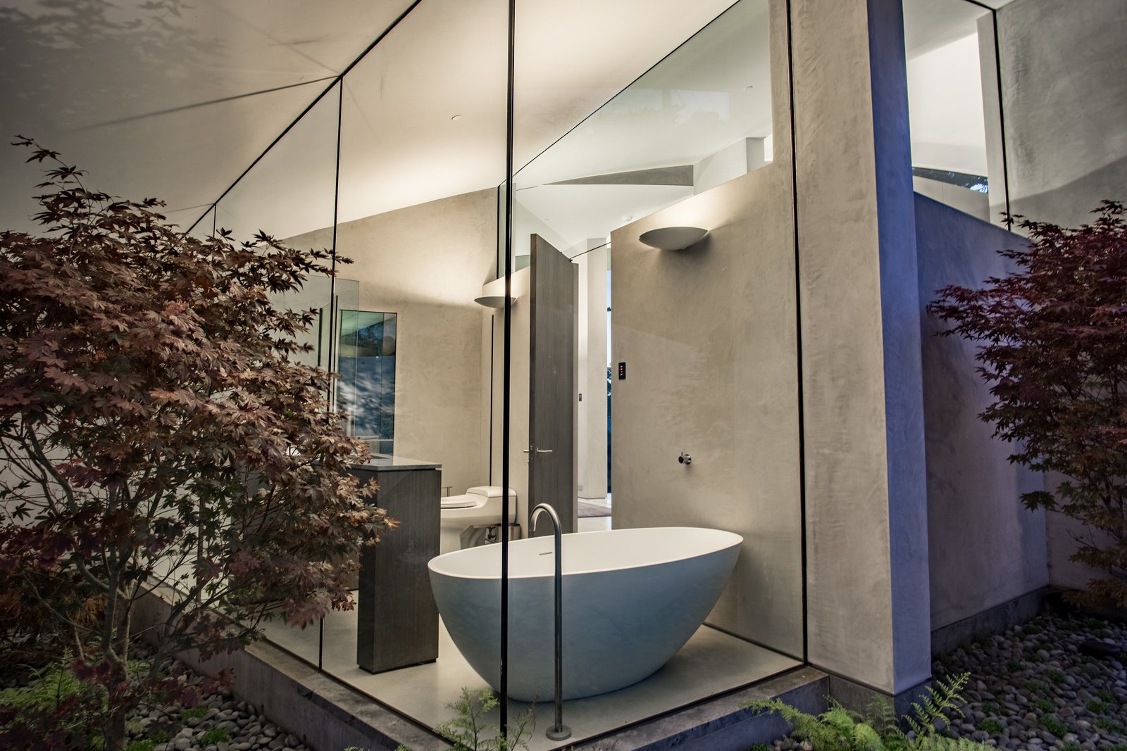 Tagged: Bath Room and Freestanding Tub.  Best Photos from We Wish We Had $11.4M to Buy This Oceanfront Wonder in Carmel