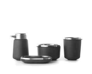 Watch Out For These Two Kitchen and Bath Trends in 2018 - Photo 9 of 32 - Bathroom accessories by Vipp</p><p>From $69</p><p>Vipp's sleek line of black washroom accessories provides the perfect finishing touch. Made of powder-coated and stainless steel, the collection includes a soap dispenser, soap dish, container, toothbrush holder, and tray (see above).<br>