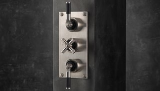 Watch Out For These Two Kitchen and Bath Trends in 2018 - Photo 14 of 32 - Industrial thermostatic shower valve trim by Samuel Heath</p><p>From $4,116 The Bauhaus-influenced LMK shower controls from British maker Samuel Heath come in a combination of satin nickel and matte-black chrome.