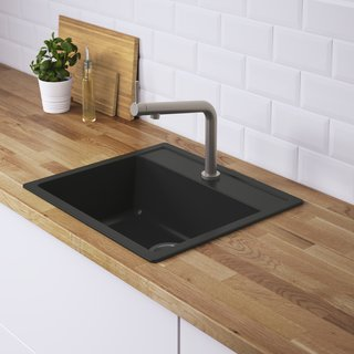 Watch Out For These Two Kitchen and Bath Trends in 2018 - Photo 12 of 32 - Hällviken sink by IKEA</p><p>$211 For a relatively low-cost splash of black in the kitchen, try IKEA's Hällviken sink. The stone powder and acrylic basin is completely non-porous for easy cleaning.