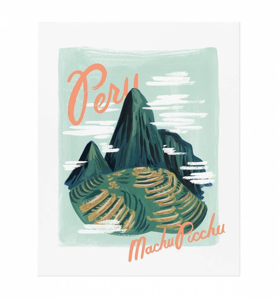 Bon Voyage Peru Art Print by Rifle Paper Co.