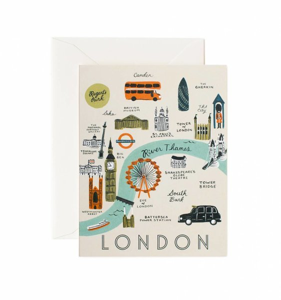 London Map Greeting Card by Rifle Paper Co.