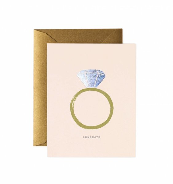 Congrats Engagement Greeting Card by Rifle Paper Co.