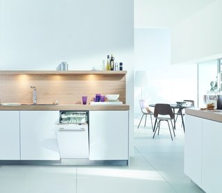 """Watch Out For These Two Kitchen and Bath Trends in 2018 - Photo 32 of 32 - 18"""" Futura Dimension Slimline dishwasher by Miele</p><p>$1,399</p><p><br> Miele's ultra-slim dishwasher isn't just efficient in terms of space, it's also capable of washing and drying a full load in 31 minutes."""