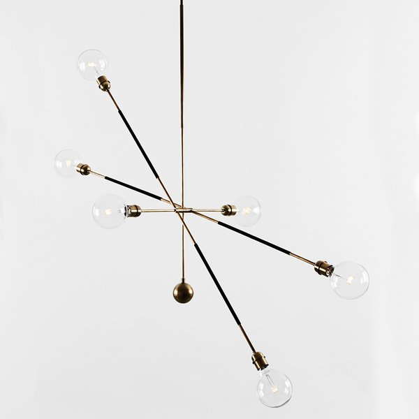 HIGHWIRE TANDEM chandelier by Apparatus