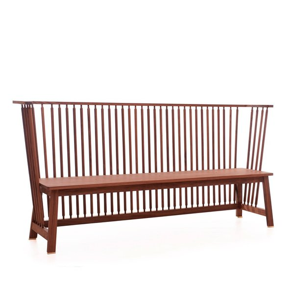 Low Settle bench by Ilse Crawford, for De La Espada