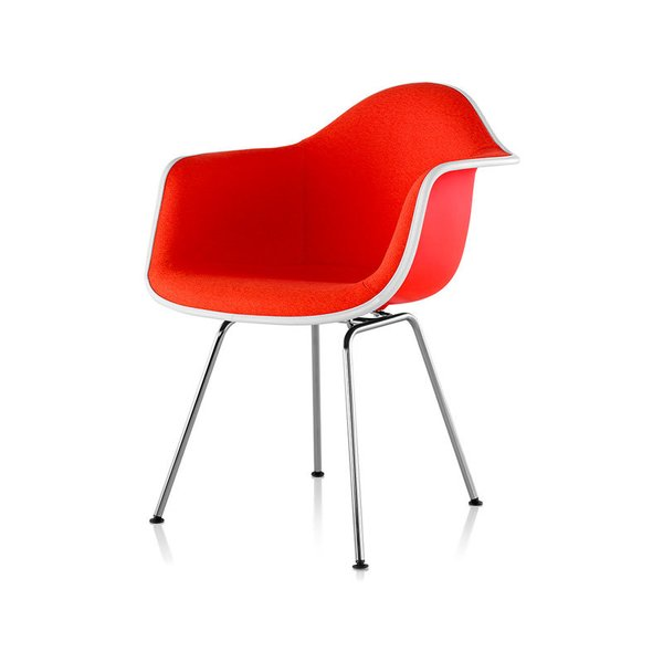 Eames Upholstered Armchair with 4-Leg Base