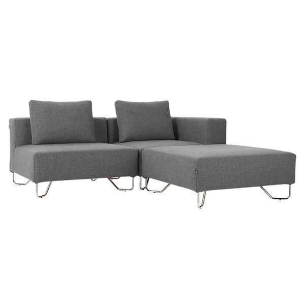 lotus 3-piece grey sectional sofa by CB2