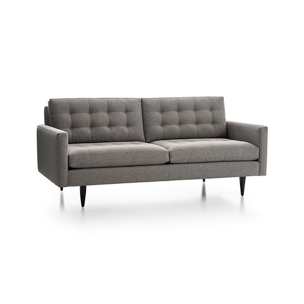Crate & Barrel Petrie Midcentury Sofa