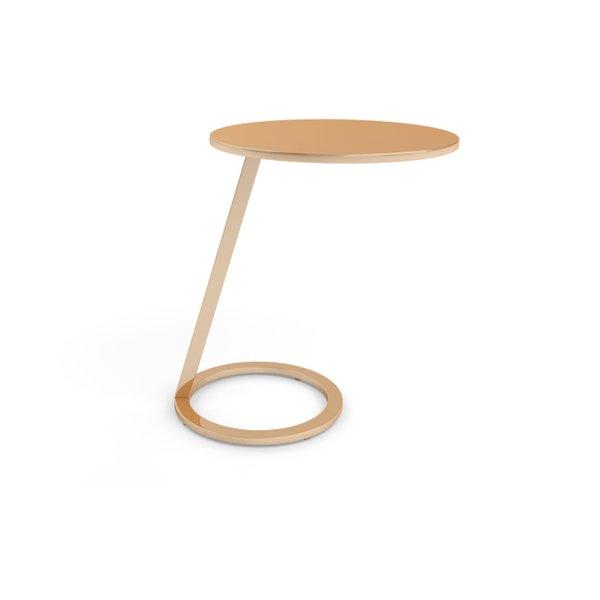 GOOD MORNING copper pedestal table by Alban-Sébastien Gilles, for Ligne Roset