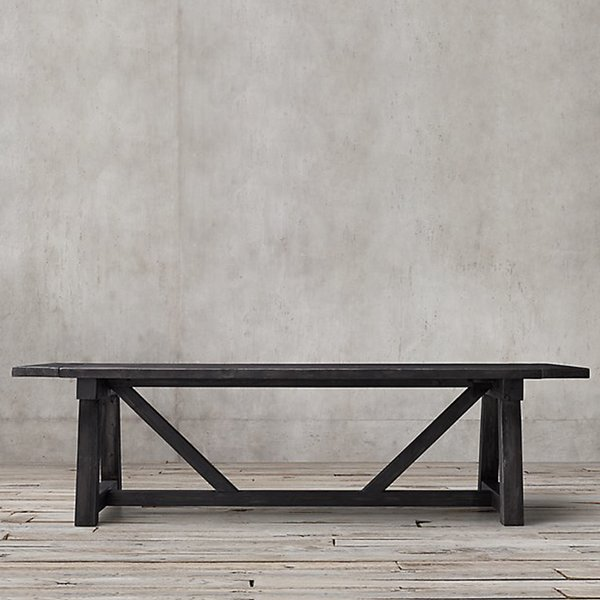 SALVAGED WOOD BEAM RECTANGULAR EXTENSION TABLE by Timothy Oulton, for Restoration Hardware