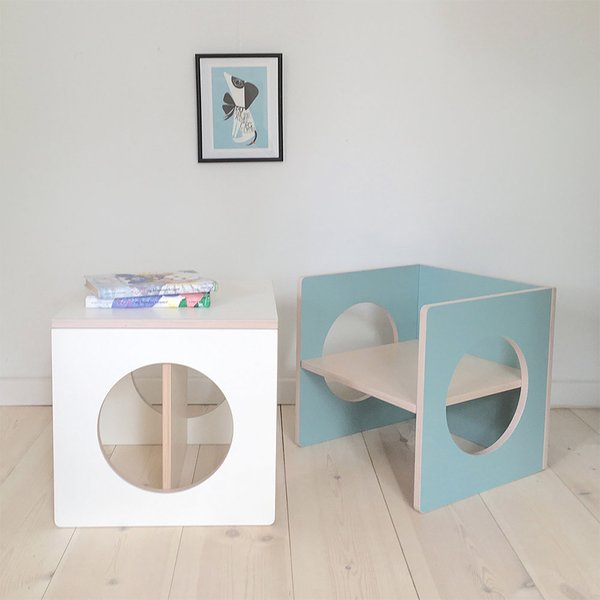 CUBE: KIDS CHAIR / TABLE by Small-Design
