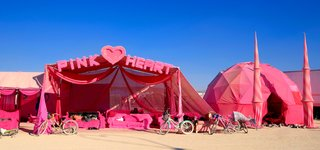 16 Otherworldly Photos of Burning Man Architecture - Photo 6 of 16 - Pink Heart Camp