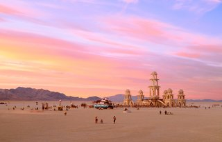 16 Otherworldly Photos of Burning Man Architecture - Photo 14 of 16 - The Temple of Transition by Chris Hankins, Diarmaid Horkan, and the International Art Megacrew