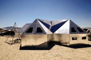16 Otherworldly Photos of Burning Man Architecture - Photo 2 of 16 - Pentayurts at Easy Buckaroo Camp