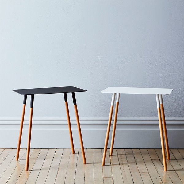 Steel & Wood Rectangular Side Table by Yamazaki Home