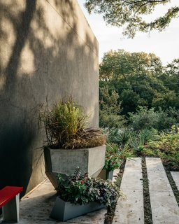 A Black Stucco Home in Dallas Is Surrounded by Eye-Popping Greenery - Photo 15 of 17 -