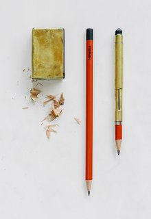 Bainbridge Island Architect Jim Cutler Has Found the Perfect Pencil - Photo 1 of 1 - Jim Cutler's Japanese pencils, and the two devices he built for them, literally never leave his side.
