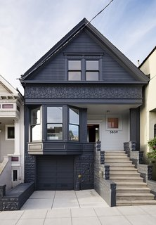 After a Renovation, a Classic San Francisco Victorian Is Now Bursting With Light and Color - Photo 6 of 15 - The facade's historical details were preserved and painted Gunmetal by Benjamin Moore.